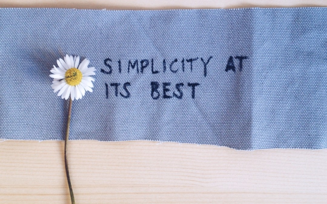 looking for simplicity