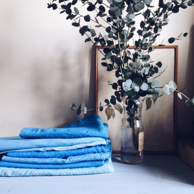naturally dyed linen and organic cotton