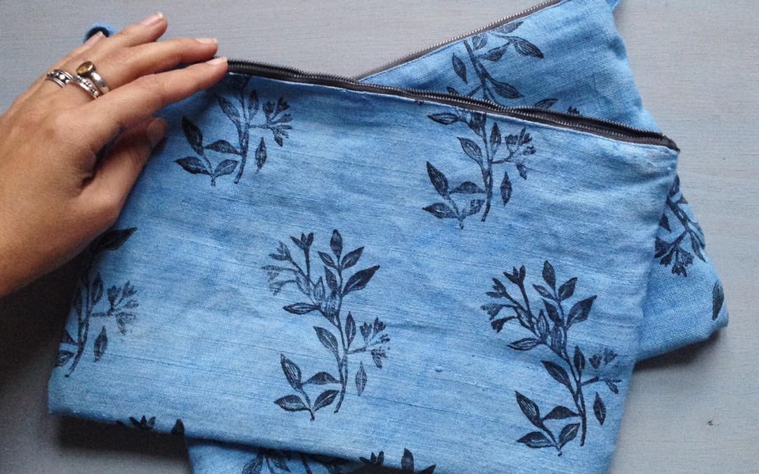 indigo dyed pouch collection is here