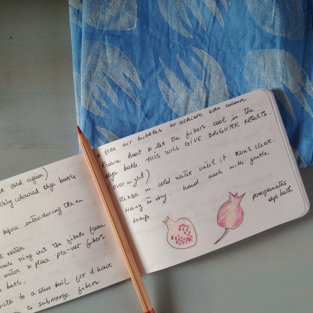 notes on dyeing with pomegranate