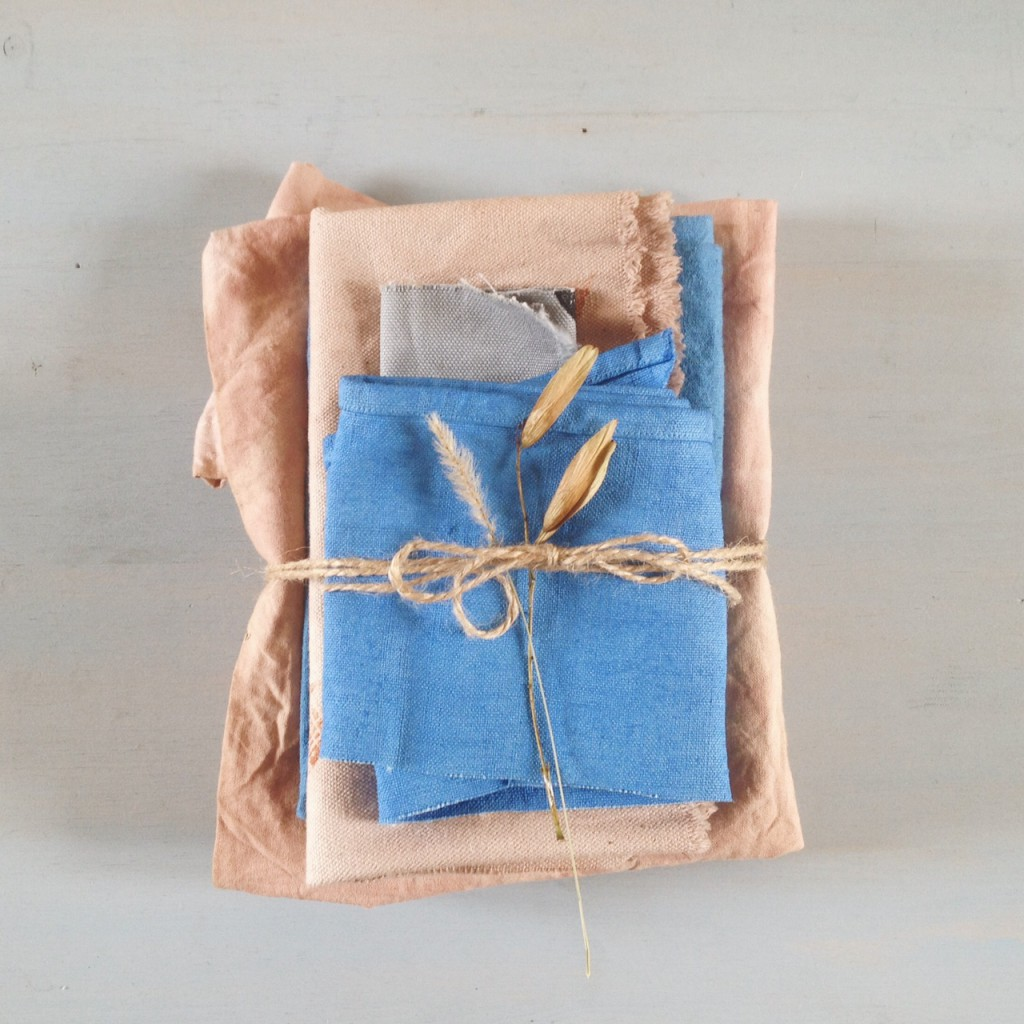 naturally dyed linen and cotton