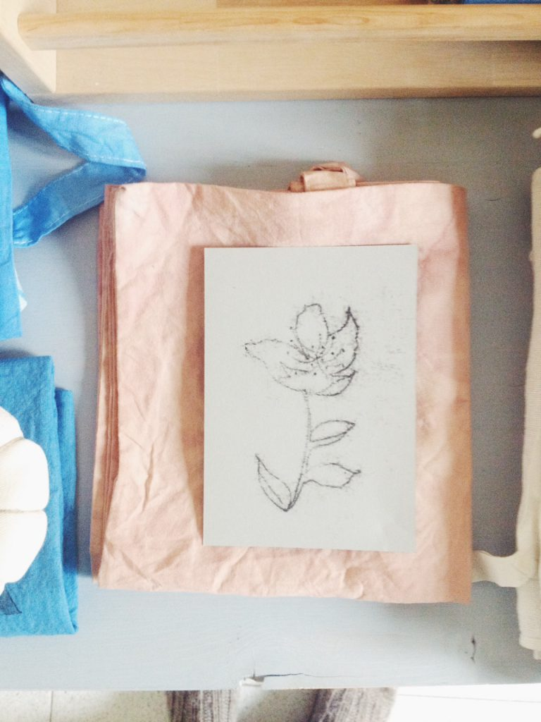 natural dye and monotype print